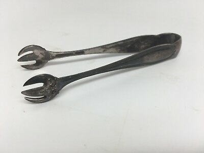 Vintage Solid Sterling Silver Claw Sugar Tongs