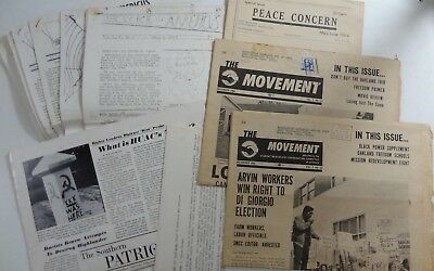CIVIL RIGHTS 1960s SNCC Student Nonviolent Coordinating Committee Ephemera Lot