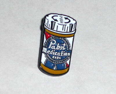 Pabst Blue Ribbon Beer PBR ART Program Limited Edition Pin Medication Pill Bottl