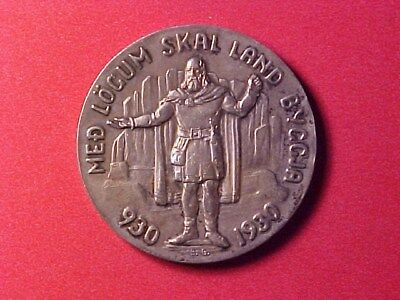 Iceland 5 Kronur Silver Crown Medallic 1930 Unc 1000 Years Althing Km-Bruce-X-2