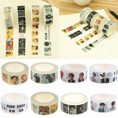 DIY KPOP BTS Washi Tape Paper Maksing Scrapbook Stickers WANNA ONE EXO V Twice