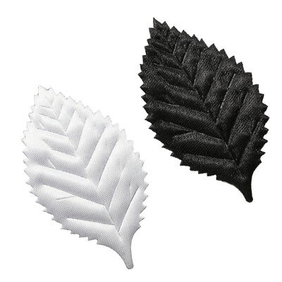 100pcs Artificial Leaves Foliage DIY Making Accessories Photo Prop White/Black