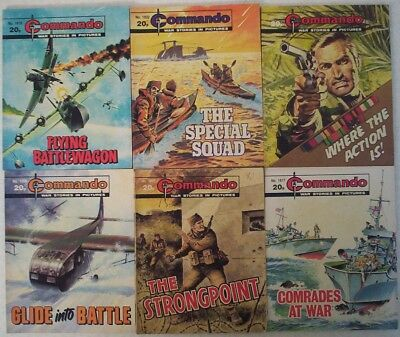 Lot 15. Six Commando War Picture comics #'s 1800 -1827. Dated 1984.