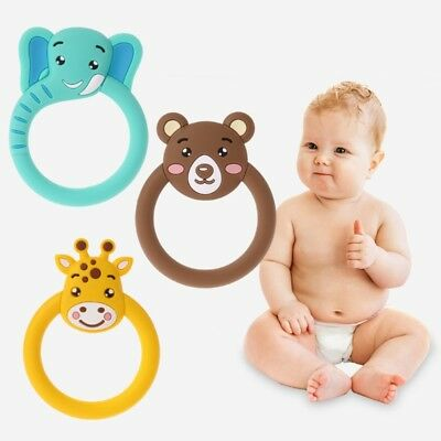 Baby Toys Teether Pacifier Cartoon Teething Nursing Silicone BPA Free Necklace