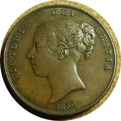 elf  Great Britain 1 Penny 1859  Victoria
