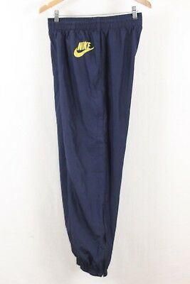 Nike Mens Navy Blue Spellout Mesh Lined Cuffed Jogger Pants Size Medium M