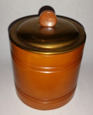 Bakelite DUK-IT butterscotch Catalin Cigarette Container Holder Box chunky