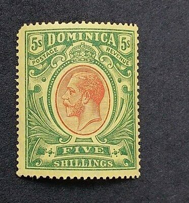 DOMINICA 1914  5s SG 54 Sc 54 MNH two short perfs at top