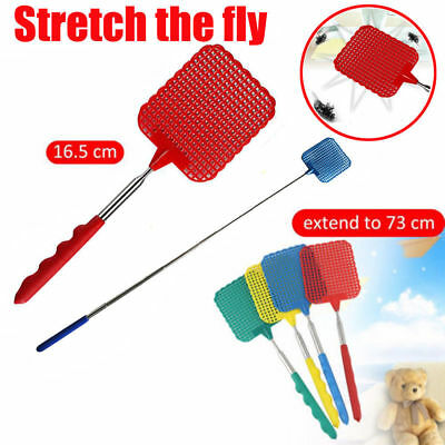 Practical Plastic Telescopic Extendable Fly Swatter Prevent Pest Mosquito Tool