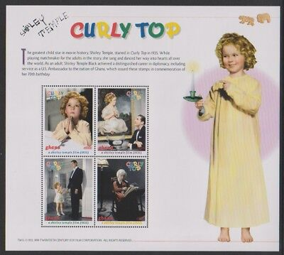 Ghana - 1999, 70th Birthday of Shirley Temple sheetlet - MNH - SG 2808/11