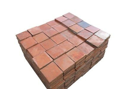 "Reclaimed Terracotta Quarry Floor Tiles 6"" x 6"" - Quarries Flooring"