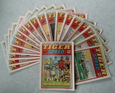 Tiger and Speed Comic - Collection of The First 19 T&S Comics from 1980/81