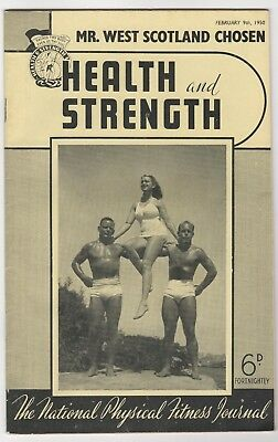 Health And Strength - 9//2/1950 - Scotland / Ireland + Wrestling Interest