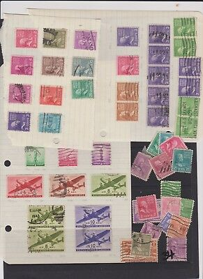 USA VERY OLD STAMPS  leftovers usefull