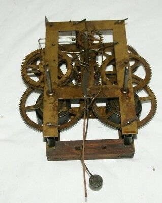 Antique E.N. WELCH Shelf/Parlour/Wall Clock Movement, Spares/Repair