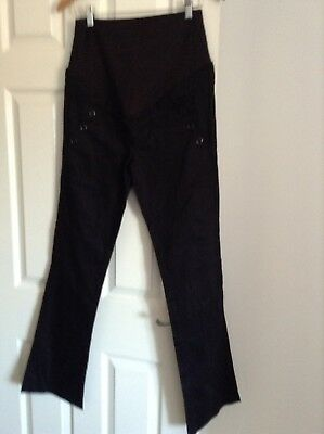 Size 12 Maternity Over Bump Black Smart Trousers by H&M