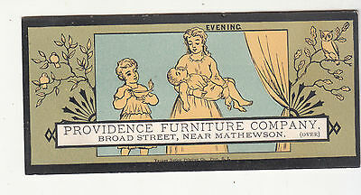 Providence Furniture Company EVENING Yankee Printing Carpets Vict Card c1880s