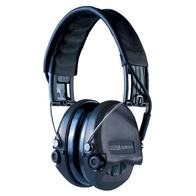 MSA Safety Sordin Supreme Pro Ear Protection with Aux Foam Cushion, Black