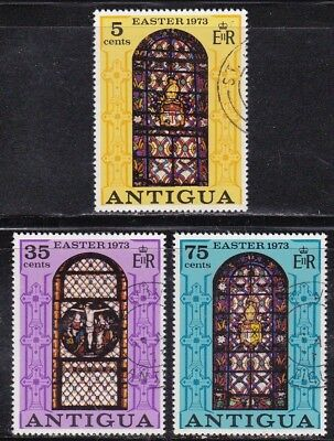 Antigua #304-306 Used Stained Glass Windows (Cathedral Of St. John)