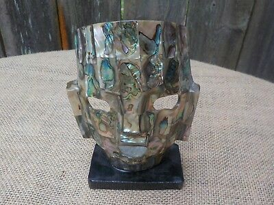 Abalone Mask Aztec Mayan Mexico Shell Face Mask Sculpture