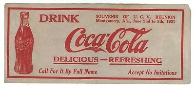 1931 United Confederate Veterans reunion Coca-Cola souvenir $100 bill