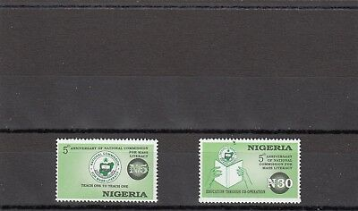 a96 - NIGERIA - SG720-721 MNH 1996 5th ANNIV MASS LITERACY COMMISSION