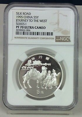 1995 Silver Silk Road China S5Y Journey To The West PF 70 Ultra Cameo
