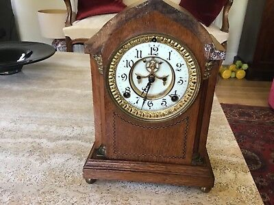 Victorian Ansonia Striking Mantle Clock For Restoration