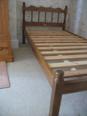 Single solid antique pine bed frame by Duckers