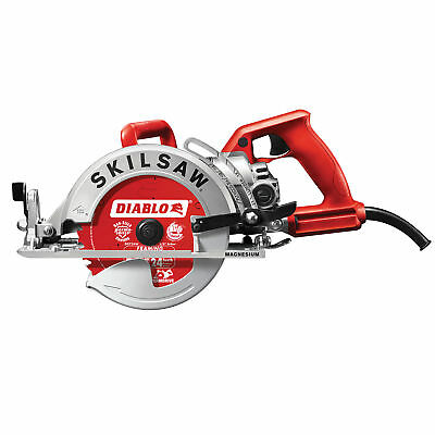 """Skilsaw Diablo 7-1/4"""" 15A Corded Magnesium Worm Drive Circular Saw with Blade"""