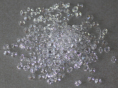 Small White Clear Round Brilliant Loose Cubic Zirconia, size and quality choice
