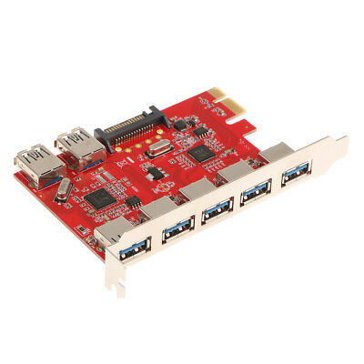 PCI-E to USB3.0 7-Port Express Expansion Card Adapter Converter for Desktop