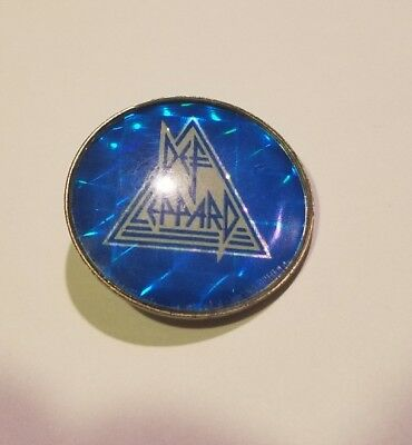 Rare Vintage Def Leppard Button Pin Made in England