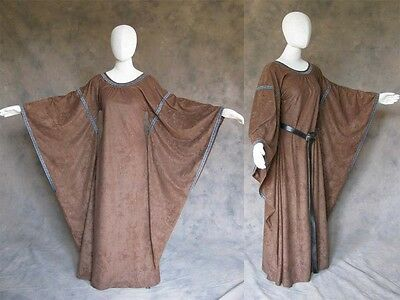 Brown Bell Sleeve Medieval Dress Cosplay Gown LARP Game of Thrones Costume 2X 3X