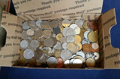 Large Huge Worldwide assorted Mix Foreign coins Lot full 3 lbs 1.4 KG No tokens