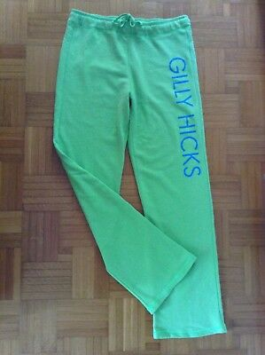 GILLY HICKS by ABERCROMBIE & FITCH Jogginghose Haushose Damen Gr. M Glitzerprint