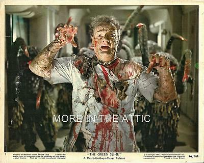 The Green Slime Is Coming!  Lot Of Seven Original Us Color Sci Fi Horror Stills
