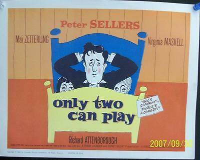 Peter Sellers Only Two Can Play Original Uk Comedy Vintage U.s. Title Card