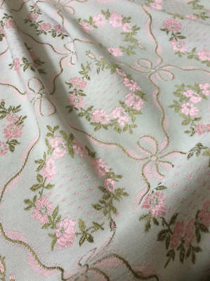 ~*Stunning Vintage French Rose Wreaths & Ribbons Bed Cover/Throw/Curtain*~