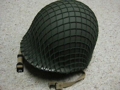 Wwii Us Army Fixed Bail Bale Helmet With Liner And Camouflage Netting D-Day Look