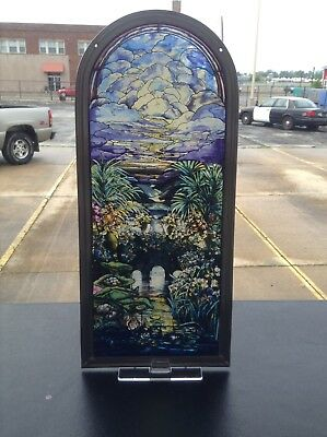 Tiffany Palms by Louis Comfort Tiffany Stained Glass Panel by  Glassmasters