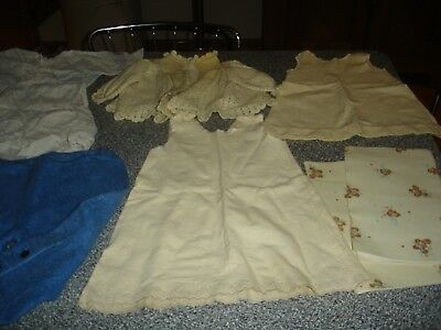 Lot of assorted vintage Child/Baby Clothes:  Sweater, Leggings, Dress, Slips +