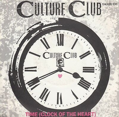 """7""""-  Culture Club = Time (Clock Of The Heart) / White Boys Can't Control It"""