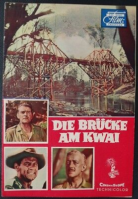 DNF Die Brücke am Kwai Alec Guinness William Holden Jack Hawkins Filmprogramm