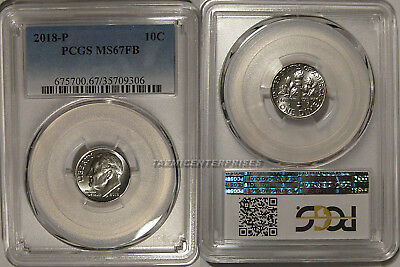 2018 P Roosevelt Dime 10c PCGS MS67FB Full Bands