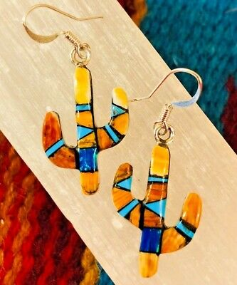 Native American high quality hand crafted Cactus  Earrings with Genuine