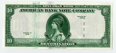 American Bank Note Co Advertising Specimen Note 1929 (1970s) Malaysia Tiger Wmk