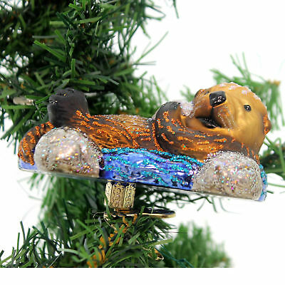 Old World Christmas FLOATING SEA OTTER Ornament Clip-On Pacific Ocean 12506