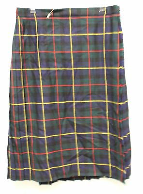 Ladies HIGHLAND HOME INDUSTRIES Pure New Wool Kilt - Size 20 - C33