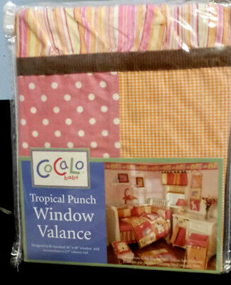 New Cocalo Baby Tropical Punch Window Valance Polka Dots, Gingham, Stripes